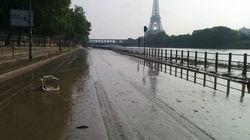 Après la décrue, on a pris à vélo une voie sur berge de Paris (on a trouvé des