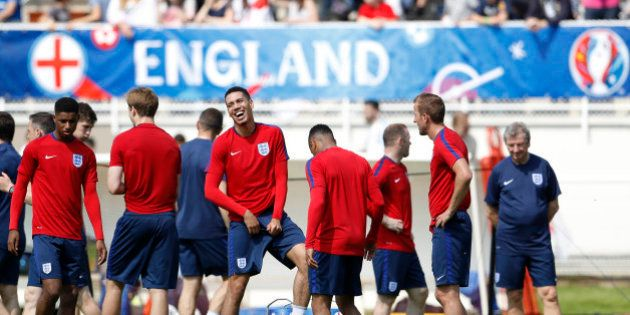 Football Soccer - Euro 2016 - England Training - Stade des Bourgognes - Chantilly - 7/6/16 - England's...