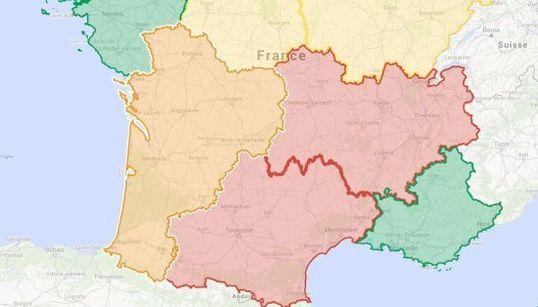 La grande région du Sud-Ouest va