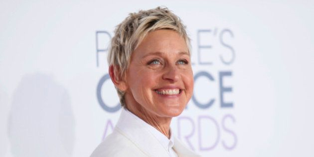 TV personality Ellen DeGeneres arrives at the 2015 People's Choice Awards in Los Angeles, California...
