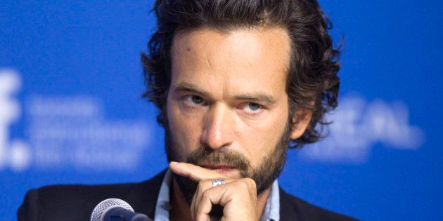 Actor Romain Duris attends a news conference to promote the