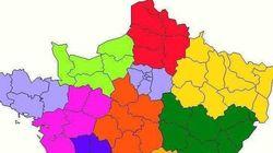La carte des régions change encore (et