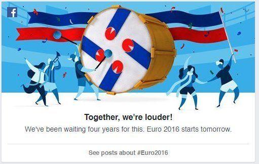 Il y a quelque chose qui cloche avec ce rappel de Facebook pour l'Euro