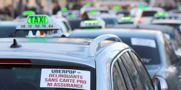 Grève des taxis: la mobilisation anti-Uber à revivre en