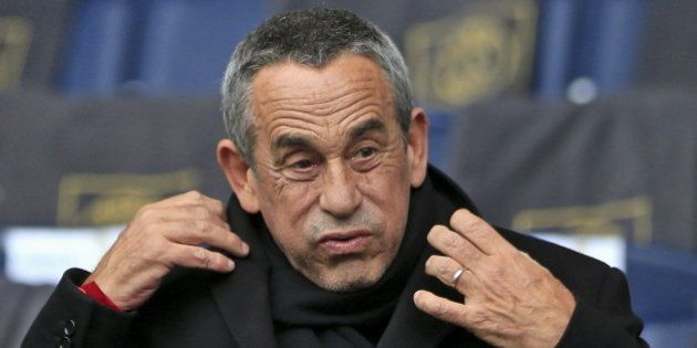 TV host Thierry Ardisson attends the French Ligue 1 soccer match between Paris St Germain and Reims at...