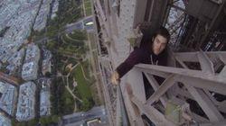 VIDÉO - Il a escaladé la Tour Eiffel à mains nues et sans