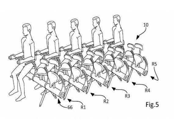 Le siège d'avion terrifiant breveté par