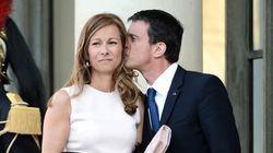 Elle accompagne Manuel Valls pour la première fois à