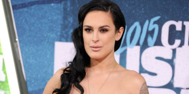 Rumer Willis arrives at the CMT Music Awards at Bridgestone Arena on Wednesday, June 10, 2015, in Nashville,...