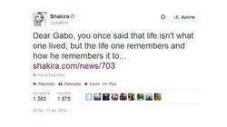 D'Obama à Shakira, ils rendent hommage à Gabriel Garcia