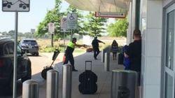 Des coups de feu filmés en direct dans un aéroport de