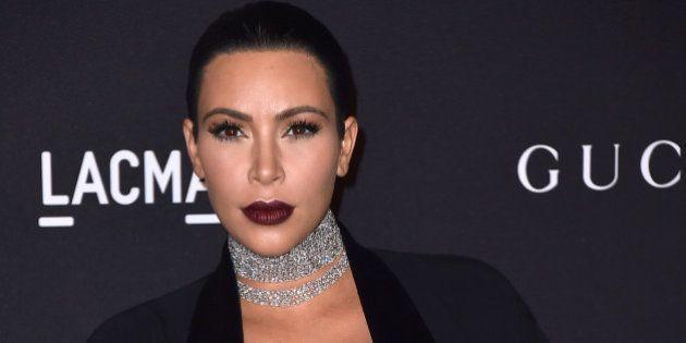 Kim Kardashian attends LACMA 2015 Art+Film Gala at LACMA on November 7, 2015 in Los Angeles, California.(Photo...