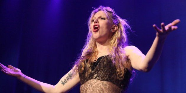 Courtney Love performs at the Celebration Of The 60th Anniversary Of Allen