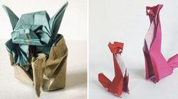 Il crée un origami (exceptionnel) par
