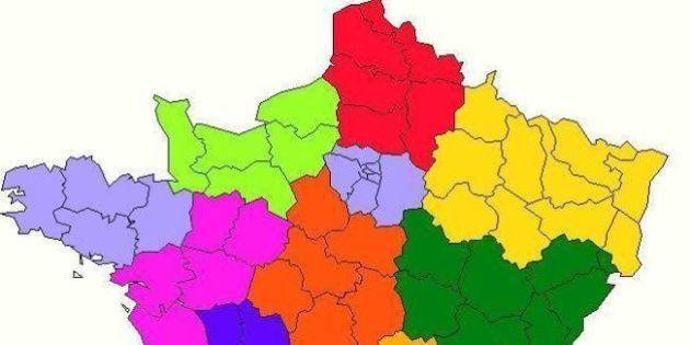 La nouvelle carte à 13 régions proposée par les socialistes adoptée par l'Assemblée