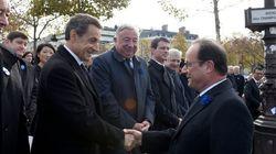 La poignée de main du 11 Novembre entre Hollande et