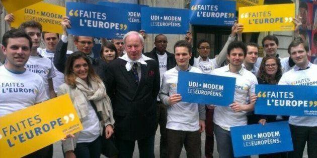 Européennes 2014: privés de débat, les centristes manifestent à