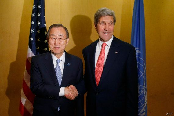 Gaza: après 14 jours d'offensive et près de 600 morts, Ban Ki-moon et John Kerry tentent d'arracher un