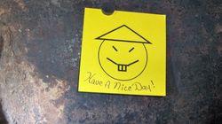 L'un des détenus qui avait laissé ce post-it avant de s'enfuir a été