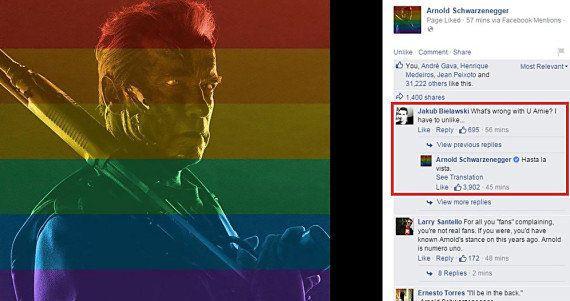 Arnold Schwarzenegger a répondu de la meilleure façon possible à l'un de ses fans opposé au mariage