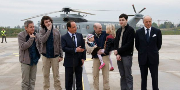 La France a versé 18 millions de dollars pour la libération des journalistes otages en Syrie, selon un...
