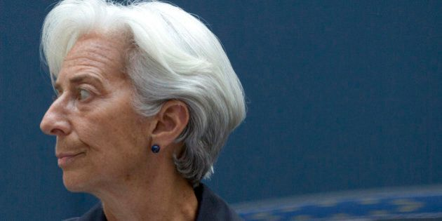 Managing Director of the International Monetary Fund Christine Lagarde arrives for a meeting of eurogroup...