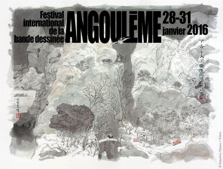 L'affiche du festival d'Angoulême 2016 réalisée par Katsuhiro
