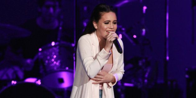 Bea Miller performs as the opener for Selena Gomez at Philips Arena on Thursday, June 9, 2016, in Atlanta....