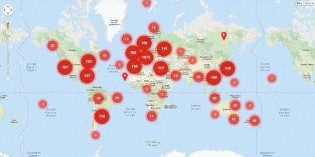 VIDEOS. La carte du monde filmé par des