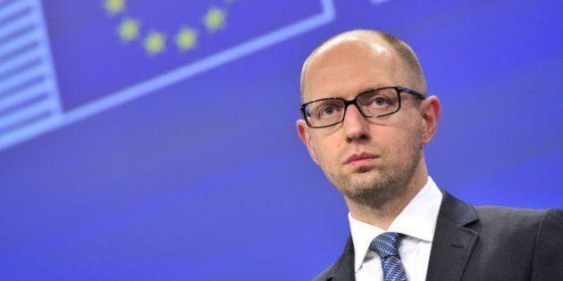 Ukraine : le premier ministre Arseni Iatseniouk annonce sa