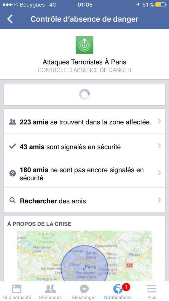 Facebook déploie un dispositif spécial pour que les Parisiens rassurent leurs
