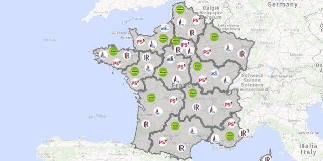 Elections régionales 2015: Marine Le Pen complète un casting quasiment complet [CARTE