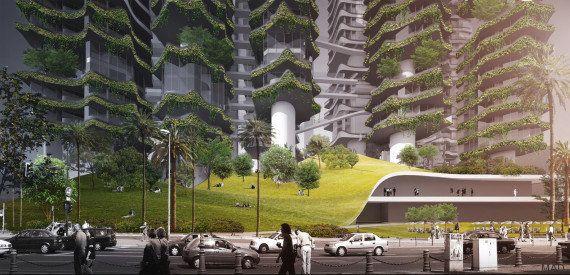 PHOTOS. Des tours vertes futuristes inventées pour Los