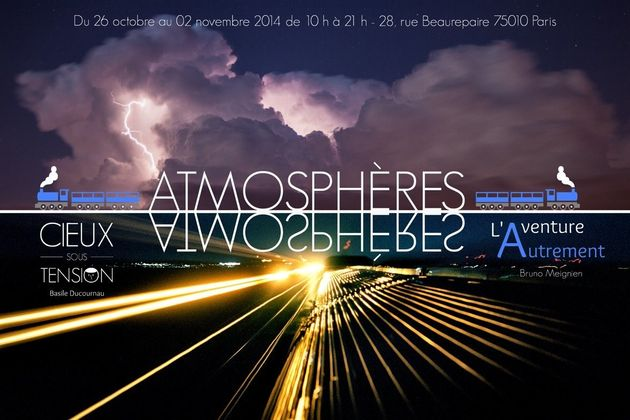 Une expo à Paris sur le travail d'un chasseur d'orages et d'un