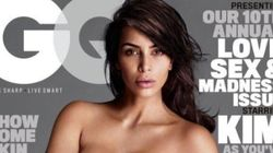 Kim Kardashian pose presque nue en couverture de