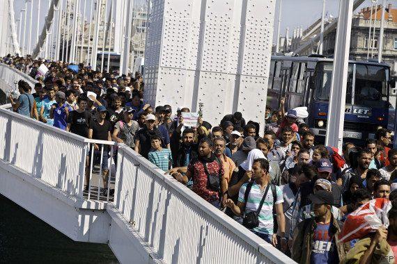PHOTOS. Des milliers de migrants autorisés à quitter la Hongrie pour rejoindre l'Allemagne et