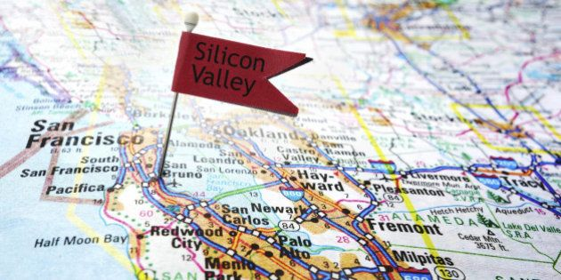 Map of the Silicon Valley area of