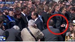 Un policier a refusé de serrer la main de Hollande et Valls pendant