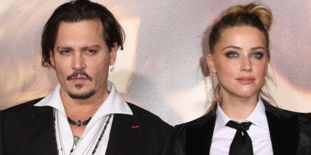 Westwood, CA - November 21 Johnny Depp, Amber Heard Attending Premiere Of Focus