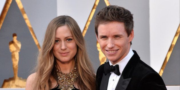 (L-R) Hannah Bagshawe and Eddie Redmayne attend the 88th Academy Awards in Los Angeles, CA, USA, February...