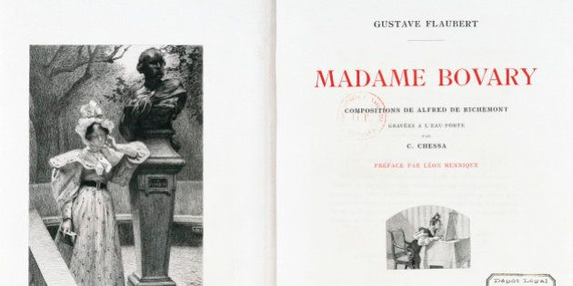 Madame Bovary, title page for the French edition of the 1905 novel by Gustave Flaubert
