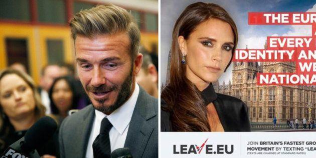 David Beckham prend position contre le Brexit, le camp adverse lui ressort