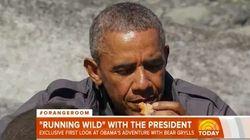 Quand Barack Obama mange du saumon abandonné par un
