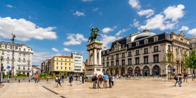 Place de Jaude, Clermont-Ferrand, Puy-de-Dome, Auvergne,