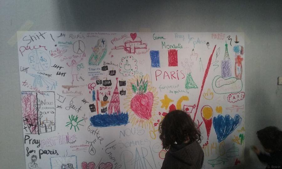 PHOTOS. Une maman du 11e arrondissement a invité les enfants à dessiner leurs