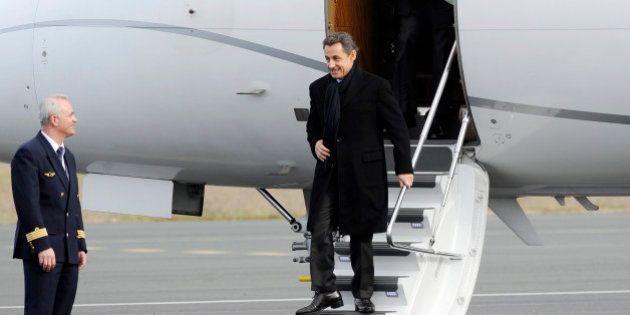 Nicolas Sarkozy a pris un jet privé pour aller à des meetings dans le Doubs et à La