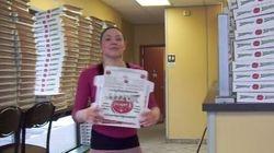 VIDÉO - Elle plie les boîtes à pizza plus vite que son