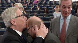 Le discours de Juncker au Parlement européen perturbé et