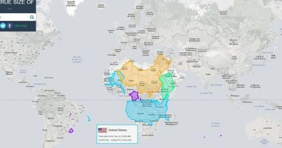 la vrai carte du monde EN IMAGES. Une carte du monde montre les pays à leur
