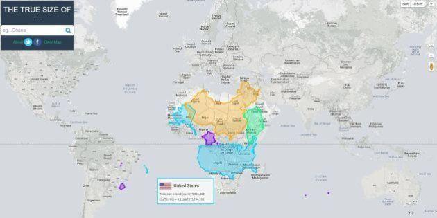 Carte Du Monde Realiste.En Images Une Carte Du Monde Montre Les Pays A Leur Vraie
